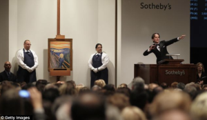 Edvard Munch / The Scream / Auction at Sotheby's 2012 / Copyright Getty Images